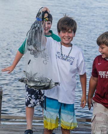 Learn to catch bait in a cast net.