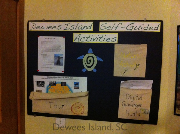 There are self guided activities in the nature center.